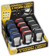 WORK LIGHT + TORCH,28 LED, Compact 9x6cm Batt  Inc  CDU