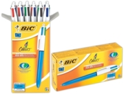 BALL PEN,4 Colour Bxd (Bic)