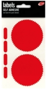 LABEL,S/Adh Company Seals Red H/pk (Was 79p)