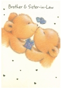 GREETING CARDS,Brother & Sis. in Law Anni.12's Teddy Bears