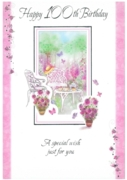 GREETING CARDS,Age 100 Female Floral 12's