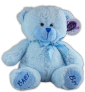 BEAR,Sitting Baby Boy Blue 23cm