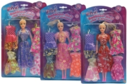DOLL,With Four Dresses 3 Asst.27cm I/cd