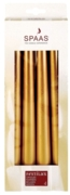 CANDLE,Taper Gold 25cm 4's H/pk (£5.99)