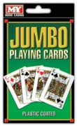 PLAYING CARDS,Jumbo, 3.5x5.5in 93x142mm H/pk