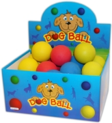 BALL,Sponge Rubber Dog Ball, Asst.Cols 63mm CDU