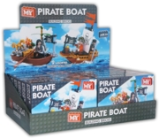 BUILDING BRICKS,Pirate Boat 58 & 62pcs.2 Designs Bxd CDU