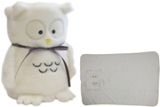 BLANKET,Owl design 60x90cm 100% Polyester Cream (£7.99)