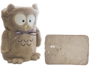 BLANKET,Owl design 60x90cm 100% Polyester Sable (£7.99)