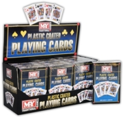 PLAYING CARDS,Plastic Coated, M-Y Games CDU