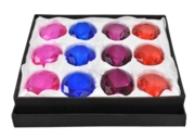 PAPERWEIGHT JEWEL, 50mm 4 Assorted Colours. CDU