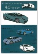 GREETING CARDS,Age 40 Male Cars 12's
