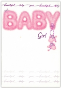 GREETING CARDS,Baby Girl 12's