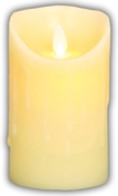 CANDLE,Dancing Flame with Melted Effect 8cm B/Op