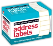LABEL,S/Adh Address on Roll 89x37mm Std 250's