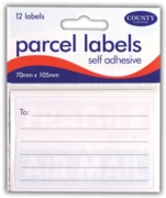LABEL,Parcel 70x105mm S/Adh 12's H/pk