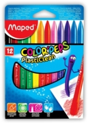 CRAYONS,Plasticlean 12's H/pk (Maped)(£4.49)