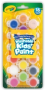 KIDS PAINT,Mini Washable 18's (Crayola) I/cd
