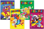 ACTIVITY COLOURING BOOK, Party Bag Books Asst.