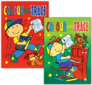 COLOUR AND TRACE BOOK,4 Asst.