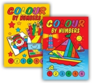 COLOURING BOOK,Colour By Numbers 4 Asst.