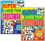 ACTIVITY BOOK,Crossword Large Print 4 Asst.
