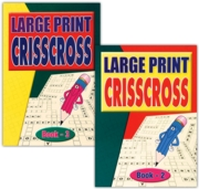 ACTIVITY BOOK,Crisscross Large Print 4 Asst.