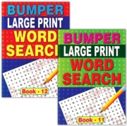 ACTIVITY BOOK,Word Search Bumper Large Print 2 Asst.