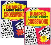 ACTIVITY BOOK,Crossword Bumper Large Print 2 Asst.