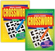 ACTIVITY BOOK,Crossword Brain Games 4 Asst.