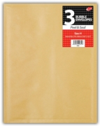 BUBBLE ENVELOPE,Manilla (H) Shrink Wrapped 3's  270x360mm