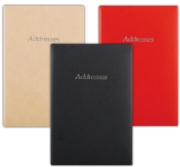 ADDRESS BOOK,Verge Large 3 Asst. 136x205mm