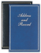 ADDRESS/RECORD BOOK,Gold Border 130x195mm