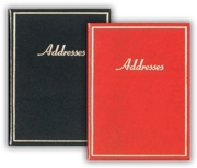ADDRESS BOOK,Medium Gold Border 100x130mm