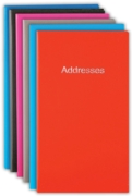 ADDRESS BOOK,Slim 85x148mm Asst.