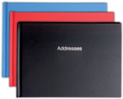 ADDRESS BOOK,Landscape 212x156mm 3 Asst.