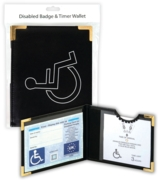 DISABLED BADGE HOLDER,Wallet Black H/pk