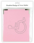 DISABLED BADGE HOLDER,Wallet Pink H/pk