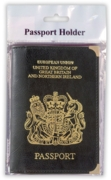 PASSPORT HOLDER,GB&NI PVC Black H/pk