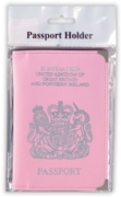 PASSPORT HOLDER,GB&NI PVC Pink H/pk
