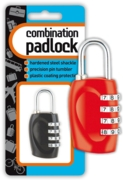 PADLOCK,Combination Asst.Cols I/cd