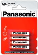 PANASONIC Zinc Batteries AAA 4's I/cd