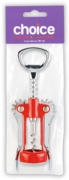 CORKSCREW,Lever Arm Bottle Opener H/pk