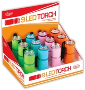 TORCH,9 LED Lumiglow Asst. Cols CDU