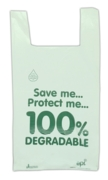 CARRIER BAG,Bio Degradable Vest,11x17x21in 100's