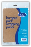 KRAFT PAPER, 3 Sheets 75x100cm 12 Labels & 12mmTape  H/pk