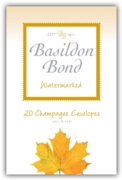 BASILDON BOND,Envelopes No.3 Champagne 20's