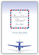 BASILDON BOND,Air Mail Pads A5 Blue 40's
