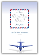 BASILDON BOND,Air Mail Envelopes C6 Blue 20's