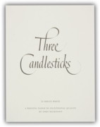 3 CANDLESTICKS PADS,A5 White 50's